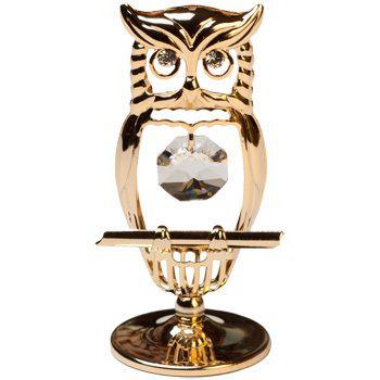 CRYSTOCRAFT Figurine Mini Hooded Owl