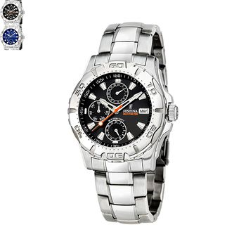 Festina SPORT Gents Watch with Stainless Steel Bracelet