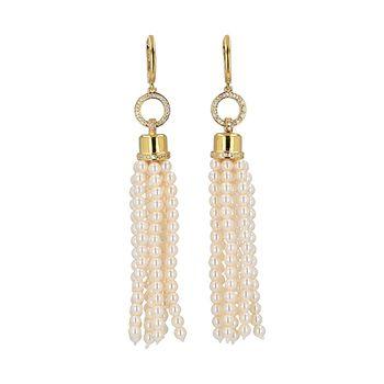 Mia's TASSEL Pearl Earrings