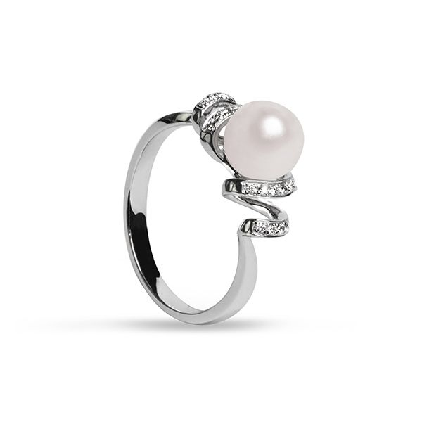 UMI Pearls CAPELLA Diamond Pearl Ring Image