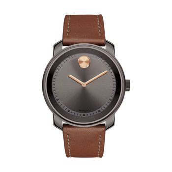 Movado BOLD Gents Watch with Leather Strap