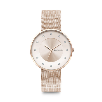 Lambretta CIELO 34 Ladies Watch with Mesh Strap - Roségold