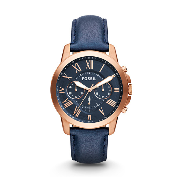 Fossil GRANT Gents Chronograph FS4835 with Leather Strap Image