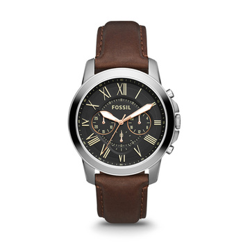 Fossil GRANT Gents Chronograph FS4812 with Leather Strap