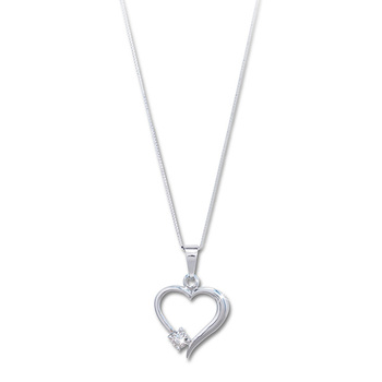 Liali FOREVER HEART 18K Diamond Pendant Necklace