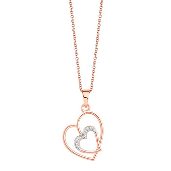 Liali HEART IN HEART 18K Diamond Pendant Necklace