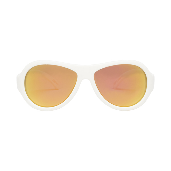 Babiators WICKED WHITE Polarized Aviator Kids Sunglasses Image