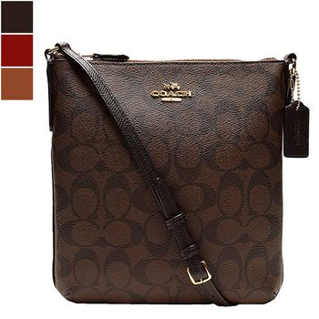 Coach SIGNATURE North/South Cross-body Bag
