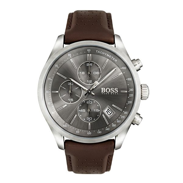 Hugo Boss GRAND PRIX Gents Chronograph with Leather Strap Image