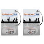 Rebound Tag Microchip Bag Tag - Double Pack