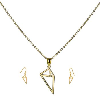 Mia's GEOMETRIC Necklace & Earrings Set