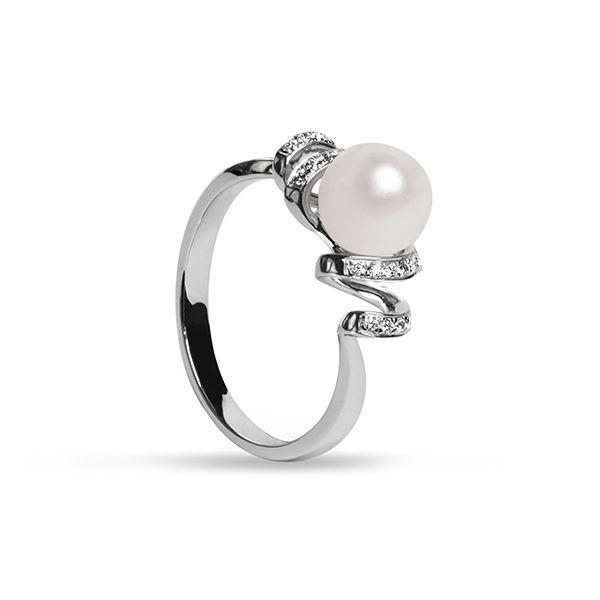 UMI Pearls CAPELLA Diamond Pearl Ring Image