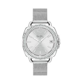 Coach TATUM Silver-Tone Ladies Watch with Crystals