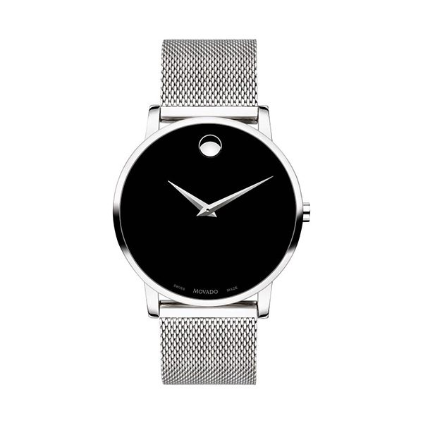Movado MUSEUM Silver-Tone Gents Watch with Mesh Strap Image