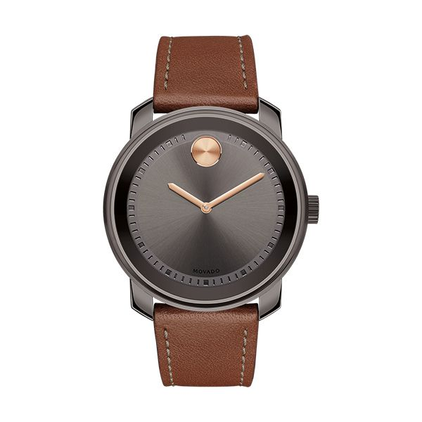 Movado BOLD Gents Watch with Leather Strap Image