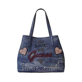 Guess VIKKY Denim Logo Shopper