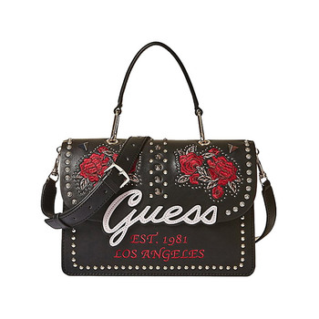 Guess IN LOVE Embroidery and Studs Flap Bag