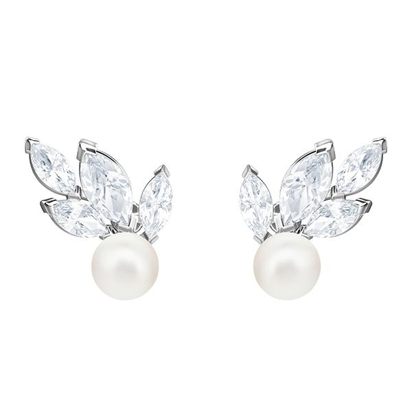 Swarovski LOUISON Pearl Pierced Earrings Image