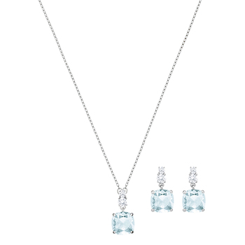 Swarovski VINTAGE Square Necklace & Earrings Set