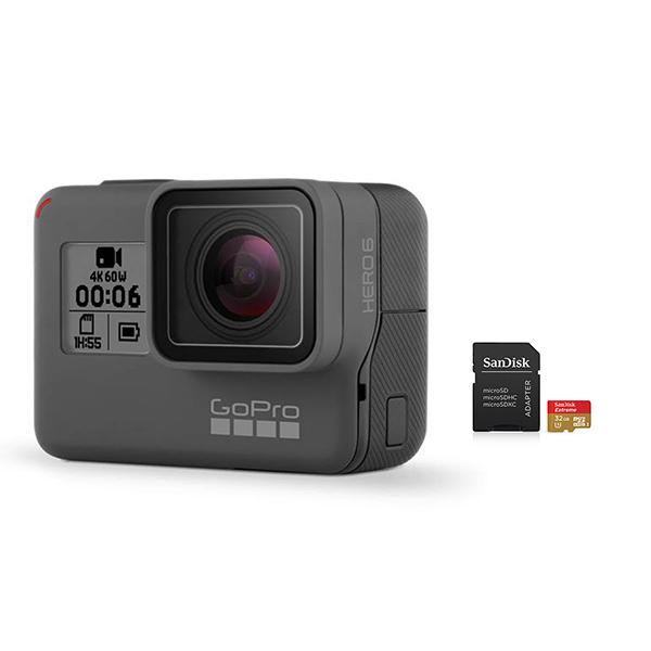 GoPro HERO6 Camera with SanDisk microSD Card 32GB Image