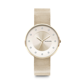 Lambretta CIELO 34 Ladies Watch with Mesh Strap - Gold