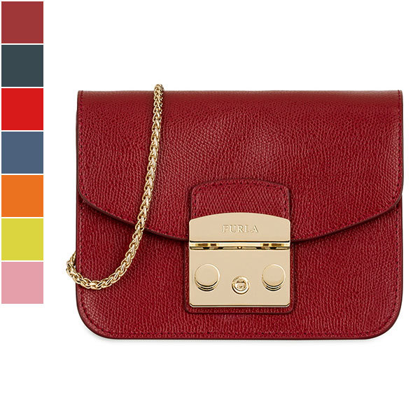 Furla METROPOLIS Mini Crossbody in Textured Leather Image