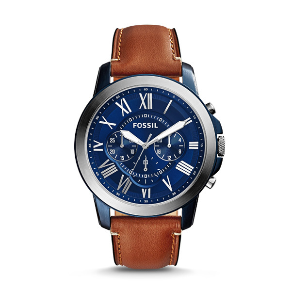 Fossil GRANT Gents Chronograph FS5151 with Leather Strap Image