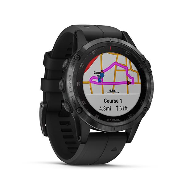 Garmin fēnix® 5 Plus GPS Watch - Sapphire Lens +Silicone Band Image