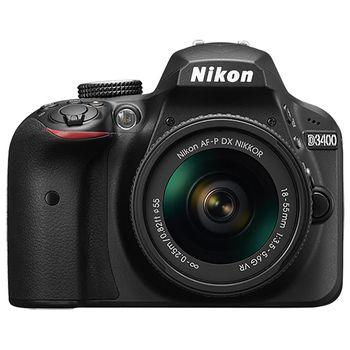 Nikon D3400 DSLR Camera with AF-P 18-55mm f/3.5-5.6G VR Lens