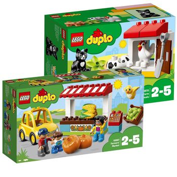 Lego DUPLO Bundle: Farmers Market + Farm Animals Town
