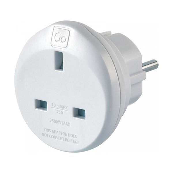 Go Travel UK-EU Adaptor Image
