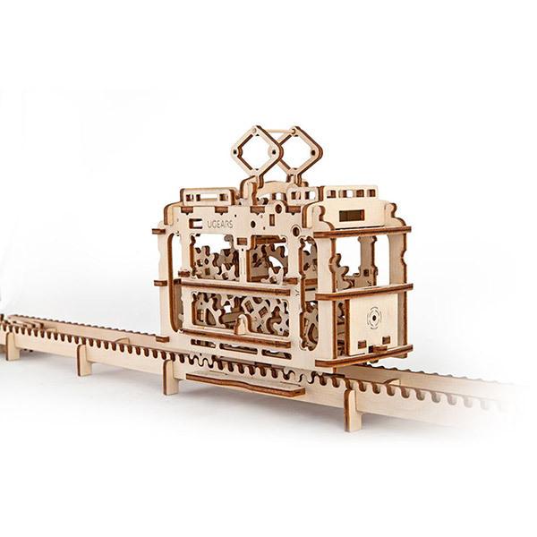 Ugears Tram with Rails 3D Wooden Puzzle 154pcs Image