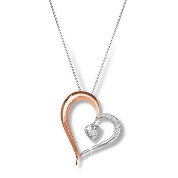 Liali HEART OF ROSE 18K Diamond Pendant Necklace