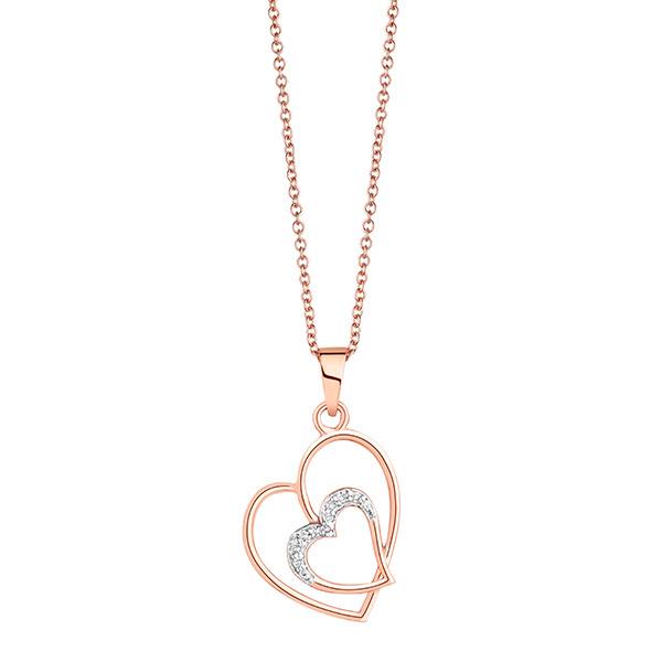 Liali HEART IN HEART 18K Diamond Pendant Necklace Image