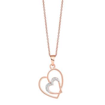 Liali HEART IN HEART 18K Diamond Pendant Necklace