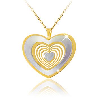 Liali HEART IN HEART 18K Pendant Necklace
